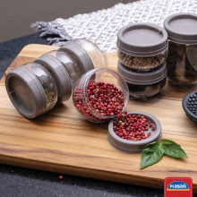 Kit Cozinheira - Porta temperos, Etiquetas, Pano de Prato, Planner