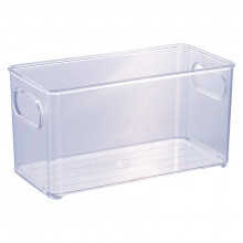 Organizador Multiuso de Plástico Cristal 20,0x10,0x10,4cm Geladeira - 13022 - Plasutil - Loladecor