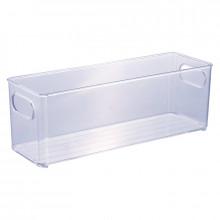 Cesto Organizador Multiuso de Plástico Cristal 10x30 Geladeira - 13023 - Plasutil - Loladecor -