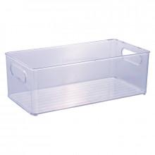 Cesto Organizador Multiuso de Plástico Cristal 15x30 Geladeira - 13025 - Plasutil - Loladecor