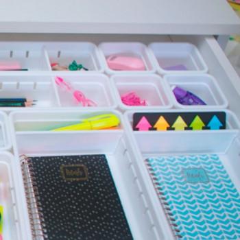 Organizador de Gaveta de Plástico L2 (22,5x15,4x5,0 cm) - 9727 - Plasutil - Loladecor