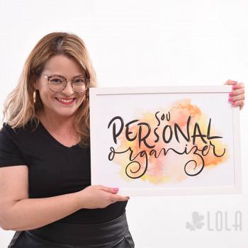 Poster A3 - Sou Personal Organizer - Alaranjado - Loladecor Artigos e Decorações