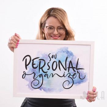 Poster A3 - Sou Personal Organizer - Azul - Loladecor Artigos e Decorações