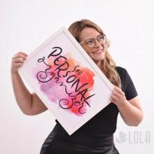 Poster A3 - Sou Personal Organizer - Rosa - Loladecor Artigos e Decorações