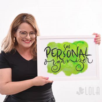 Poster A3 - Sou Personal Organizer - Verde - Loladecor Artigos e Decorações