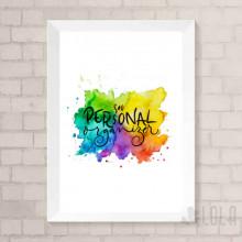 Poster A4 - Sou Personal Organizer - Colorido - Loladecor Artigos e Decorações
