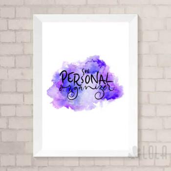 Poster A4 - Sou Personal Organizer - Roxo - Loladecor Artigos e Decorações