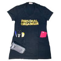 Camiseta Cobre Legging - Preta - Personal Organizer - Bordado Dourado - Loladecor