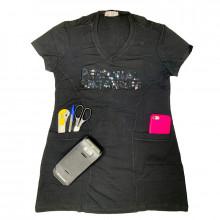 Camiseta Personal Organizer CobreLegging Preta com Preto Tam GG