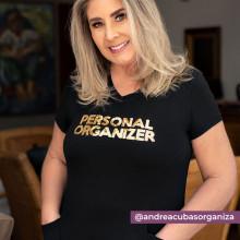 Camiseta Personal Organizer CobreLegging Preta com Dourado Tam G