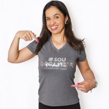 Camiseta Personal Organizer Baby Look - Cinza - M - Loladecor Artigos & Decoracoes