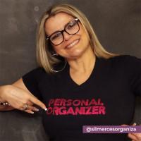 Camiseta Baby Look - Preta - Personal Organizer - Bordado Pink - Loladecor