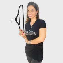 Camiseta Personal Organizer CobreLegging Preta com Prata Tam P