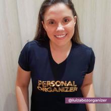 Camiseta Personal Organizer B.Look Preta com Dourado Tam P