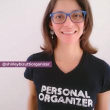 Camiseta Personal Organizer Baby Look Preta com Prata Tam P