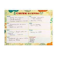 Planner Cardápio - Planejamento Semanal - Lola Decor