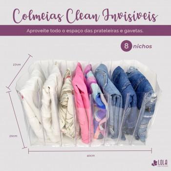 Colmeia Organizadora Clean - Tamanho GG1 - Bermudas, calças jeans, sapatilhas - Loladecor