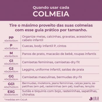 Colmeia Organizadora TNT - Tamanho P - Body Infantil, Cuecas - Loladecor