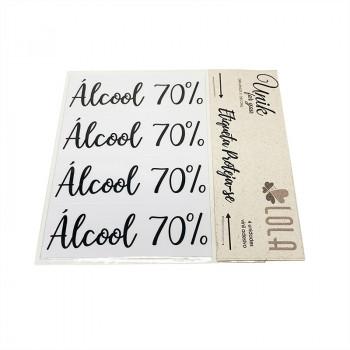 Etiqueta Álcool 70% - Kit 04 - Loladecor - Unik for You