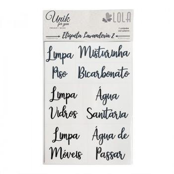 Etiqueta Lavanderia 2 - Produtos de Limpeza - Loladecor - Unik For You