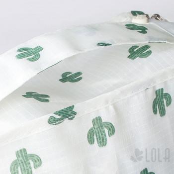 Organizador de Mala - Kit com 7 peças - Branco com Cactus - Loladecor Artigos e Decorações