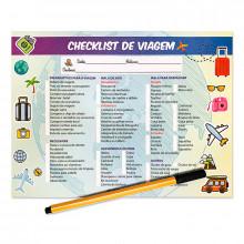 Planner Check-list de Viagem - 24 folhas - Loladecor