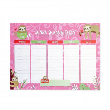 Planner Semanal Minha Semana Feliz - 24 folhas - Loladecor