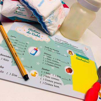 Planner Rotina do Bebê - 24 folhas - Loladecor Artigos e Decorações