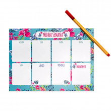 Planner Semanal Floral - 24 folhas - Loladecor
