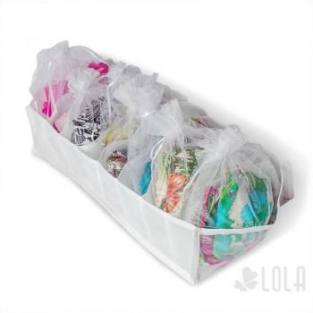 Saco de Organza - 18x24cm - kit com 10 peças - Branco - Loladecor Artigos e Decorações