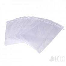 Saco de Organza - 24x40cm - kit com 10 peças - Branco - Loladecor Artigos e Decorações