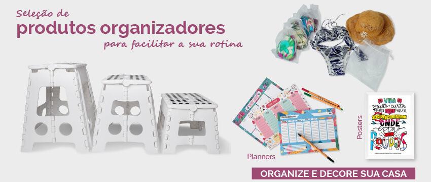 Produtos para organização e decoração